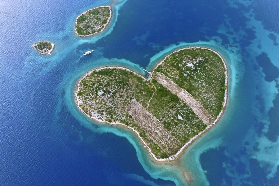 Un cuore nell'Adriatico: Galešnjak inCroazia